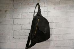All Leather 'D' Bag (black)