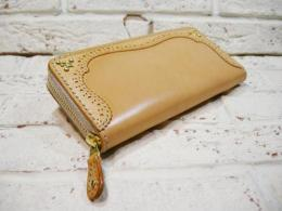 Round Zip Wallet 【M】 natural
