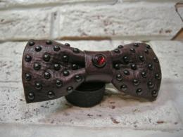 Leather Bow Tie(DOT)  Brown
