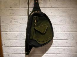D-pocket ワンショルダーBag(Blk×Green)